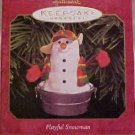 Hallmark Ornament ~ Playful Snowman 1999