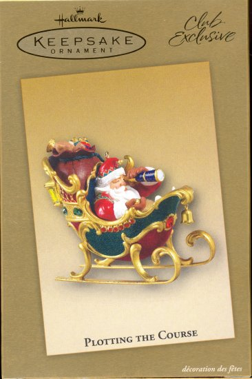 Hallmark Ornament ~ Plotting the Course 2004 ~ Club Exclusive