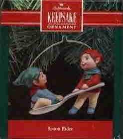 Hallmark Ornament ~ Spoon Rider 1990 ~ 2 elfs