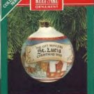 Hallmark Ornament ~ St. Lucia 1990 ~ Gift Bringers series