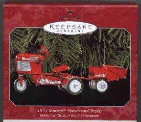 Hallmark Ornament ~ 1955 Murray Tractor & Trailer 1998 ~ Kiddie Car Classics series