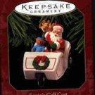 Hallmark Ornament ~ Santa's Golf Cart 1999 ~ Here Comes Santa series