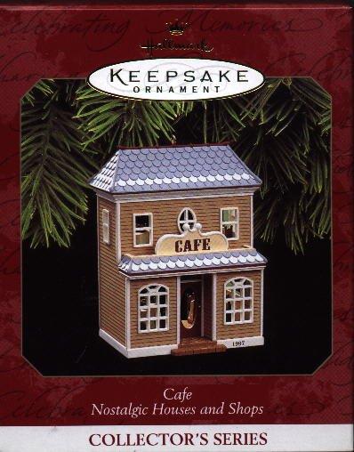 Hallmark Ornament Ornament ~ Cafe 1997 ~ Nostalgic Houses and Shops series