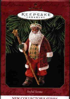Hallmark Ornament ~ Joyful Santa 1999 ~ Joyful Santa series ~ African American