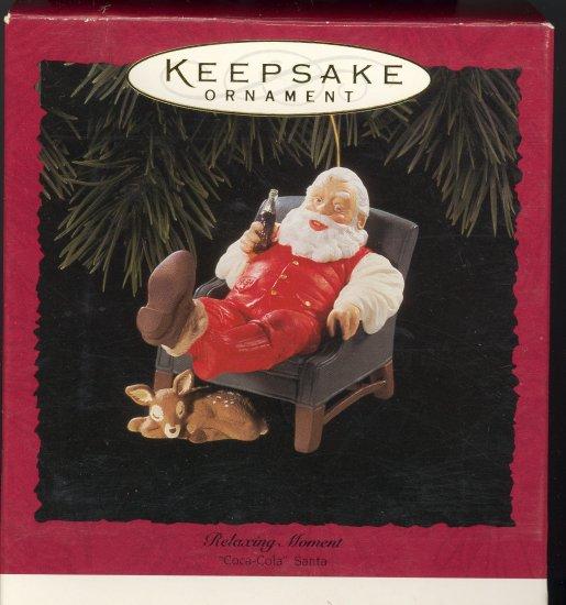 Hallmark Ornament ~ Relaxing Moment 1994 ~ Santa and a Coke