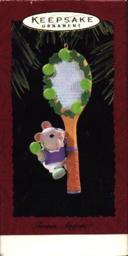 Hallmark Ornament ~ Tennis Anyone? 1995 ~ mouse & tennis racket