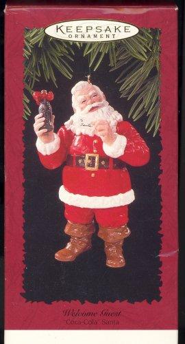 Hallmark Ornament ~ Welcome Guest 1996 ~ Santa and a Coke