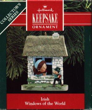 Hallmark Ornament ~ Nollaig Shona ~ Irish 1990 ~ Windows of the World series