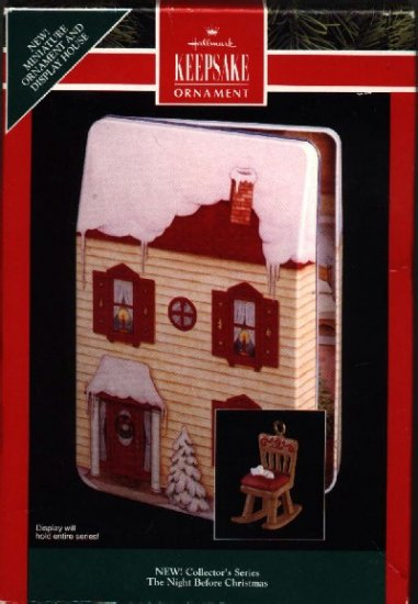 Hallmark Miniature Ornament & Display ~ The Night Before Christmas 92