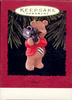 Hallmark Ornament ~ Dad 1996 ~ Bear