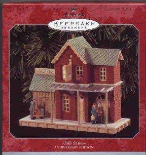 Hallmark Ornament ~ Halls Station 1998 ~ Nostalgic Houses and Shops compliment