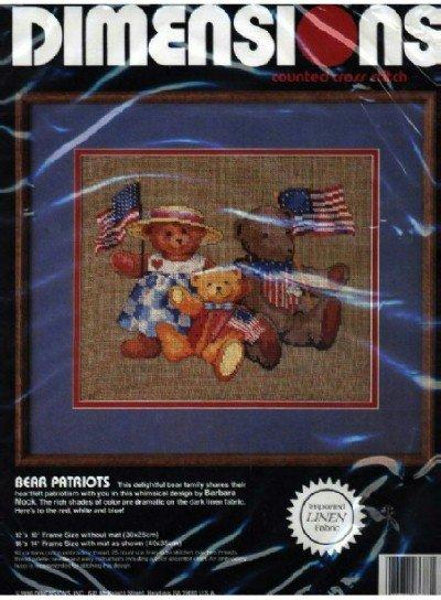 Bear Patriots ~ Cross-Stitch Kit
