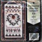 Holly Heart ~ Cross-Stitch & Bead Kit