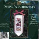 Swan Song Spring Weathervane ~ Cross-Stitch & Bead Kit