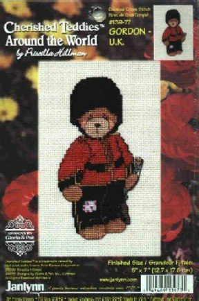 Gordon ~  U.K. ~ Cherished Teddies ~ Cross-Stitch Kit