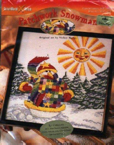 Patchwork Snowman ~ Cross-Stitch Kit