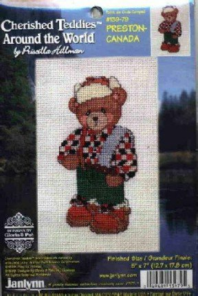 Preston ~ Canada ~ Cherished Teddies ~ Cross-Stitch Kit
