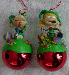 Rugrats ~ Angelica & Tommy ~ 2 Ornaments