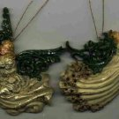 2 Angel Ornaments ~ Dove & Flute