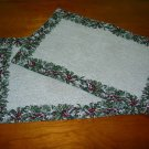2 Christmas Tapestry Place Mats  ~ NEW