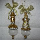2 Gold & Silver Ornaments ~ Very Elegant