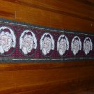 72 in Tapestry Table Runner W/Fringe ~ Santa Winks