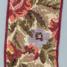 Burgundy Flowers Tapestry wired ribbon 2 in w x 6 yds