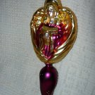"Glass Angel Ornament ~ 9"" tall"