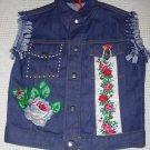 Girls Embellished Denim Vest - Size 10