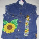 Girls Embellished Denim Vest