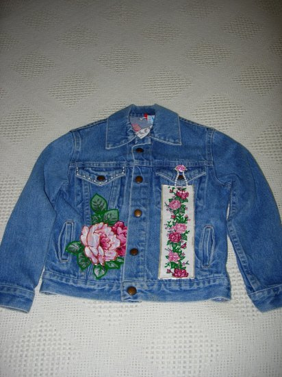 Girls Embellished Denim Jacket - Size 10