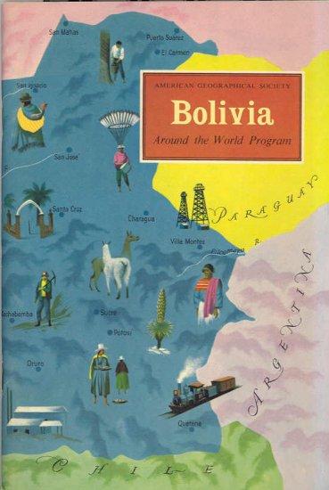 Bolivia ~ Around the World Program Book ~ 1959