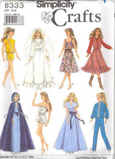 Barbie Sewing Pattern ~ Simplicity 8333