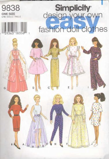Barbie Sewing Pattern ~ Simplicity 9838