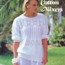 1984 Susan Bates Cotton Mixers Crochet & Knit Sweaters