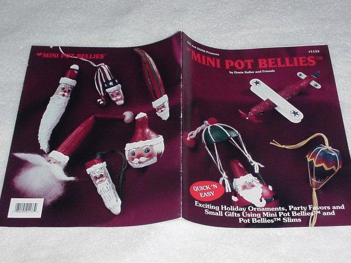 Mini Pot Bellies ~ Decorative Painting Booklet ~ 1993