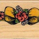 Flower Ribbon ~ Rubber Stamp ~ NEW