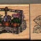 Garden & Flowers ~ 3 Rubber Stamps ~ NEW
