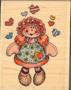 Rag Anabel ~ Rubber Stamp ~ NEW