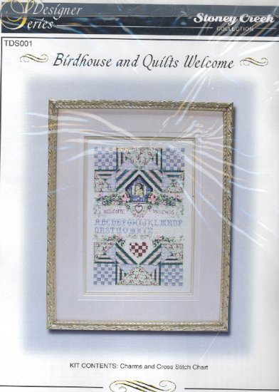 Birdhouse and Quilts Welcome ~ Cross-stitch Chart