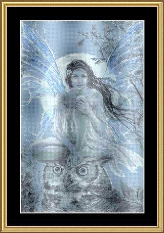 Blue Moon Faery ~ Cross-stitch Chart ( Fairy )