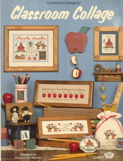 Classroom Collage ~ Cross-Stitch Chart 1987