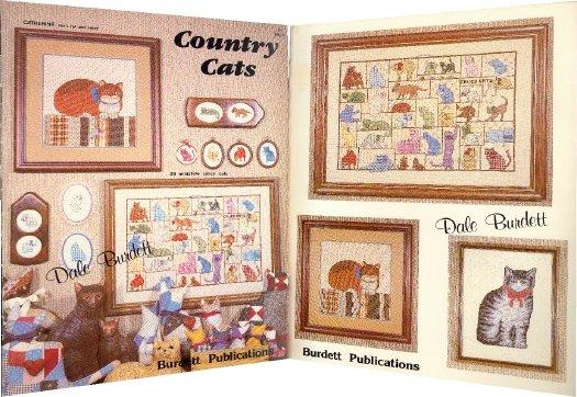 Country Cats Cross-Stitch Chart 1983
