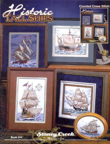 Historic Tall Ships ~ Cross-stitch Chart