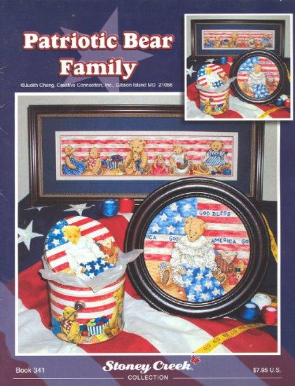 Patriotic Bear Family ~ Cross-stitch Chart