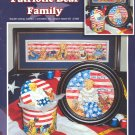 Patriotic Bear Family ~ Cross-stitch Chart