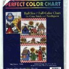 Bird Houses ~ CHART for Cross-Stitch and Needlepoint