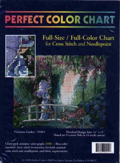 Victorian Garden ~ CHART for Cross-Stitch and Needlepoint