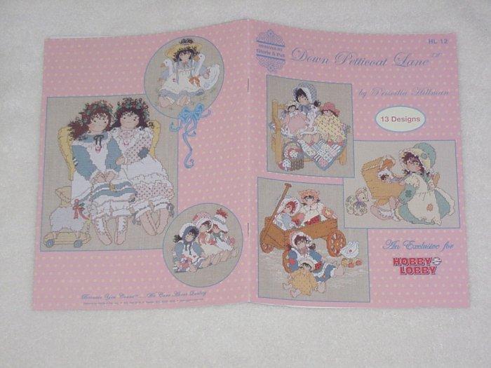 Down Petticoat Lane ~ Cross-stitch Book ~ Priscilla Hillman