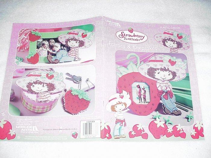 Strawberry Shortcake Frames & Keepsakes Plastic Canvas ~ 2004